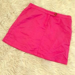 Anthro // Tropical Pink Skirt - size 12